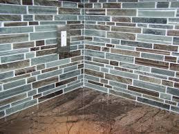 tiles backsplash brown glass tile backsplash granite countertop