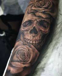 Skull Arm - best 25 skull tattoos ideas on skull drawings