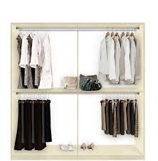 isa custom closet for hanging clothes double double hanging