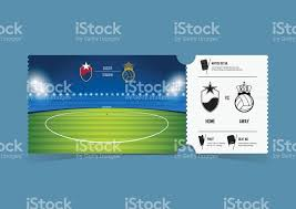 tickets gift card tickets template design for football or soccer match gift vouchers