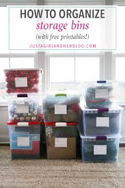 Plastic Storage Containers For Christmas Decorations by How To Organize Storage Bins With Free Printables Just A