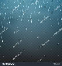vector illustration rain isolated on transparent stock vector