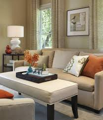 tan and red living room ideas white leather sofa grey fabric