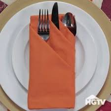 here s an easy pumpkin napkin fold that will look great on your