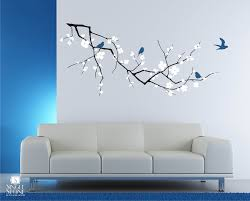 decorating ideas fascinating interior wall design stickers with full size of decorating ideas excellent cherry blossom branch wall decal for living room interior design