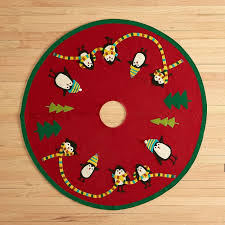 felt tree skirt penguin the company store