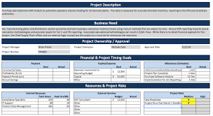 Six Sigma Project Charter Template Excel Project Charter Template Ppt Project Charter Recherche