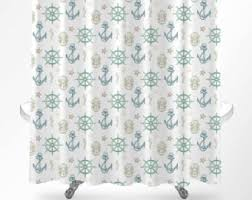 Nautical Anchor Shower Curtain Octopus Shower Curtain Nautical Shower Curtain Octopus