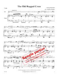 Old Rugged The Old Rugged Cross Violin Solo With Piano J W Pepper Sheet Music