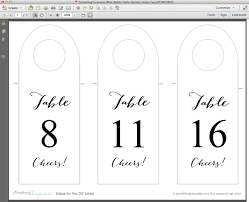 free table number templates how to make free wine bottle table number hang tags