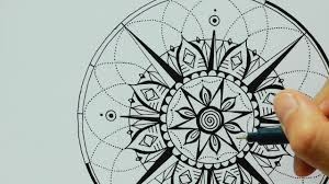 mandala heart compass tattoo design ulrike hirsch youtube