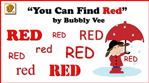 the color red song for preschool identify the color red