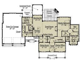 large one story house plans baby nursery house plans with two master suites one story house