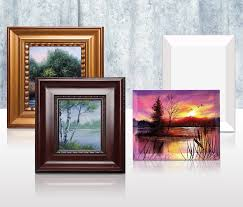unique beveled canvases and classic wood frames in a variety of finishes to accentuate your artwork