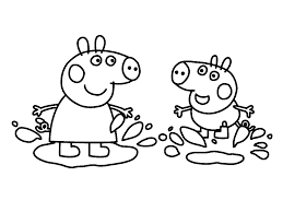 peppa pig coloring pages printable peppa pig cartoon coloring 7643