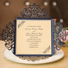 blue wedding invitations unique laser cut navy blue wedding invitations with belly band