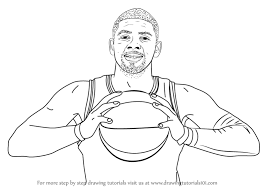 learn how to draw kyrie irving basketball players step by step