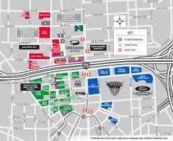 Nhl Map Little Caesars Arena Parking Guide Stadium Parking Guides