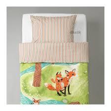 Woodland Duvet Ikea Vandring Rav Twin Duvet Cover Pillowcase Set Green Fox