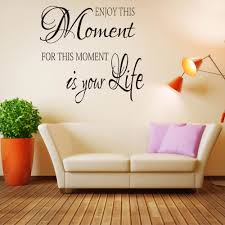 enjoy this moment wall decal wall sticker quotes inspired