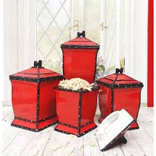 Red Kitchen Set - kitchen canister sets in red color homesfeed