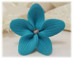 turquoise flowers turquoise hair flowers aqua flower wedding hair pins turquoise