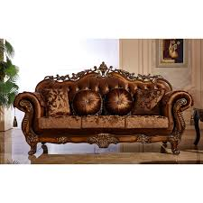 Wooden Carving Furniture Sofa Meridian Furniture Inc Seville Sofa With Accent Pillows Hayneedle