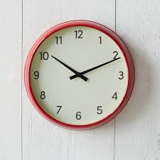 Modern Wall Clock Basic Wall Clock Red West Elm