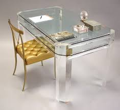 Vintage Desks For Home Office by Furniture Appealing Lucite Desk With Glass Material For Your