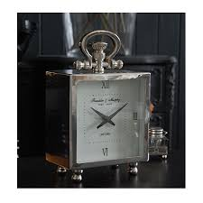 bureau chrome the black bureau chrome mantel clock
