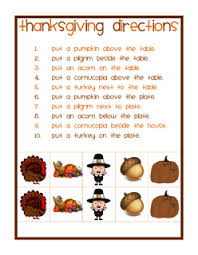 ms s slp materials spatial directions thanksgiving theme