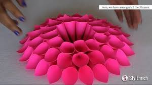 diy room decor with amazing dahlia flower diy crafts home