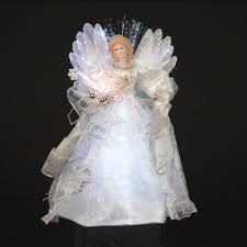 angel christmas tree topper 12 shimmering white and silver led light fiber optic angel