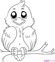easy outlines outlines of birds kids coloring