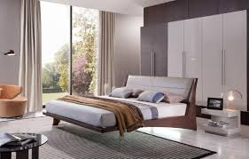 Grey And Oak Furniture Contemporary Floating Bed W Grey Headboard And Lights