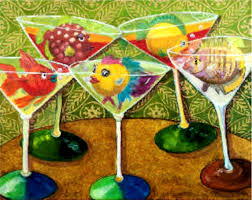 martini glass acrylic painting don u0027t drink like a fish