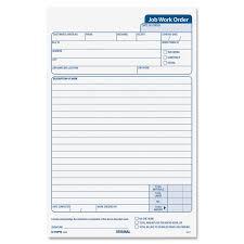job order form template