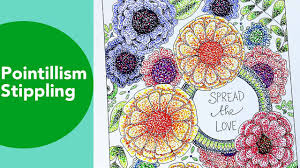 pointillism stippling time lapse tombow coloring