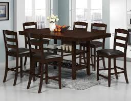 Dining Room Table With Wine Rack by Crown Mark Katrina 7 Piece Counter Height Table With Wine Rack And