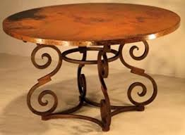 hammered copper dining table 99 best hand hammered recycled copper furniture images on pinterest