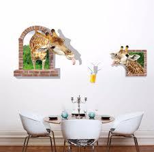 popular giraffe mural buy cheap giraffe mural lots from china free shipping3d giraffe mural wall stickers glass stickers living room giraffe vinyl mural sticker home decor