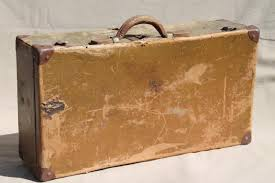 travel box images Antique suitcase early 1900s vintage paper cardboard travel box case jpg