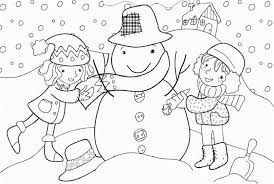 kids winter coloring page making snowman winter coloring pages