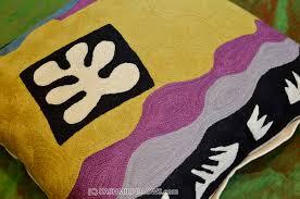 Purple Sofa Pillows by Matisse Cut Outs Modern Throw Pillows Flower Cushion Cover Yellow