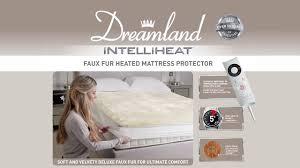 Sleepwell Heated Duvet Faux Fur Heated Mattress Protector Dreamland Youtube