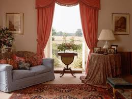 living room living room curtain ideas in red theme with waterfall
