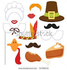 thanksgiving photo booth props photo booth props mustaches make stock vector 278916509