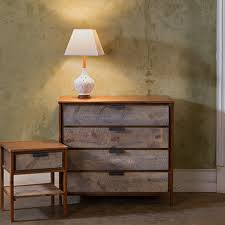 reclaimed wood side tables and dressers