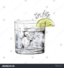 cocktail illustration watercolor gin fizz cocktail illustration can stock illustration
