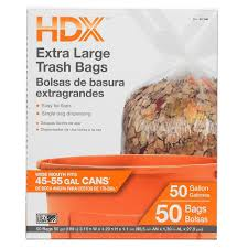 Home Depot Pro Extra by Hdx 50 Gal Extra Large Clear Trash Bags 50 Count Hdx50gc The
